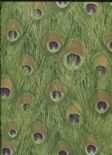 Jungle Club Wallpaper Parvani 43-Peacock By Wemyss Covers Wallcoverings